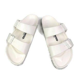 Birkenstock Arizona Open Toe Sandals White Buckle